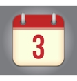 Calendar app icon vector