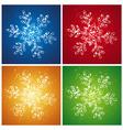 Four christmas snowflake vector