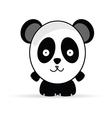 Sweet and funny panda animal vector