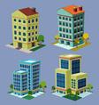 Isometric building 3 vector