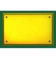 Gold metallic plate vector