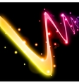 Abstract curved glow line vector