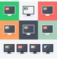 Responsive web design on different monitors vector