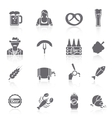 Beer icons set black vector
