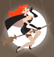 Pin up witch vector