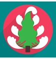 Flat christmas tree icon for web and mobile vector