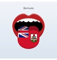 Bermuda language abstract human tongue vector