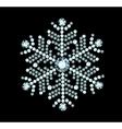 Diamond snowflake vector