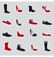 Boots and shoes stickers eps10 vector