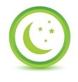 Green moon icon vector