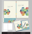Corporate identity business set folder design vector