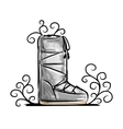 Winter shoes sketch for your design vector