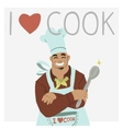 I love cook vector