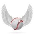 Flying baseball vector