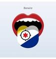 Bonaire language abstract human tongue vector