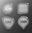 Down glass buttons vector