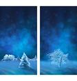 Watercolor winter night banners vector