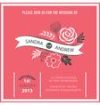 Wedding invitation or announcement vector