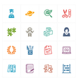 School and education icons set 5 - colored series vector