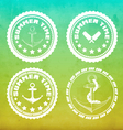 Summer labels vector