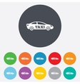 Taxi car sign icon sedan saloon symbol vector