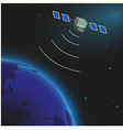 Earth and satellite vector