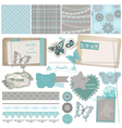 Design elements - vintage lace butterflies vector