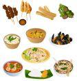Thai prepared food vector