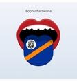 Bophuthatswana language abstract human tongue vector
