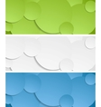 Bright circles banners vector