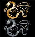 Stylised gole dragon vector