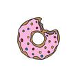 Doodle donut vector
