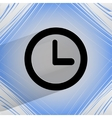 Watch flat modern web design on a flat geometric vector