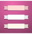 Paper ribbons - labels on pink - violet background vector
