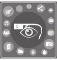 Smart glasses white icon vector