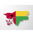 Guinea-bissau country map with shadow effect vector