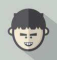 Single boys face flat design icon vector