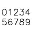 Number zero to nine vector
