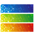 Color banners with stars vector
