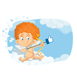 Cupid thumb up cartoon vector