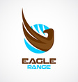 Eagle wing and head logo template vector