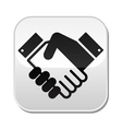 Handshake button - agreement business vector