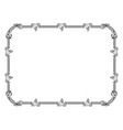 Rococo vintage frame grapes rod leaves vector