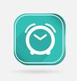 Alarm clock color square icon vector