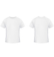 Blank t-shirt template front and back side on a vector