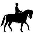Woman on horse vector