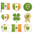 Lucky four leaf clovers vector