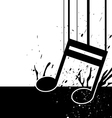 Music note fall down vector
