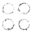 Grunge round traces vector