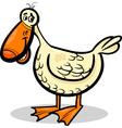 Duck farm bird cartoon vector